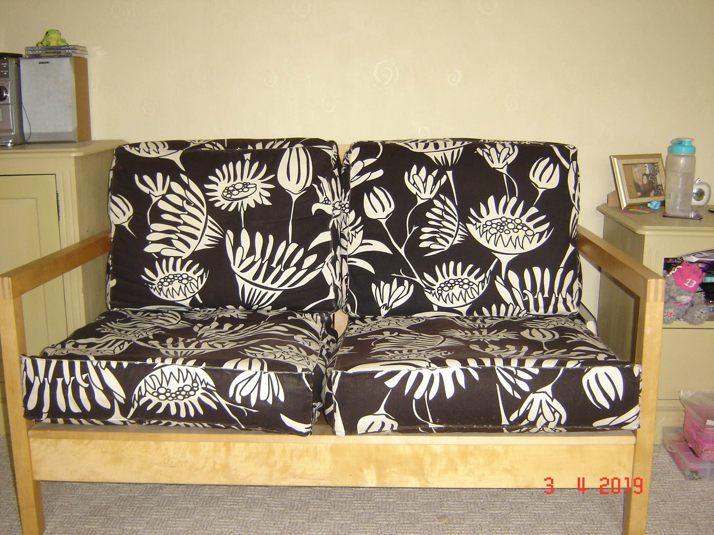 IKEA settee and chair