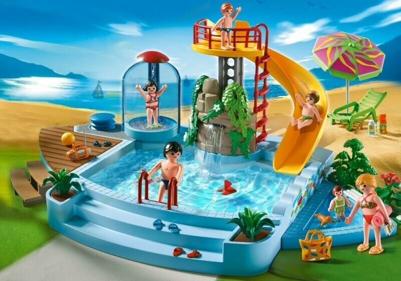 PLAYMOBIL  Summer Fun Swimming Pool GREAT CONDITION WITH