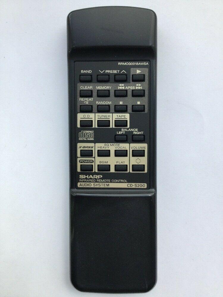 Sharp RRMCGAWSA genuine original used remote CD-S200