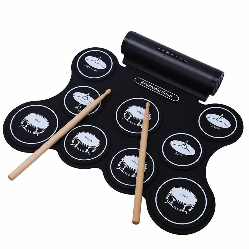portable electronic drum speaker built-in, rechargeable &