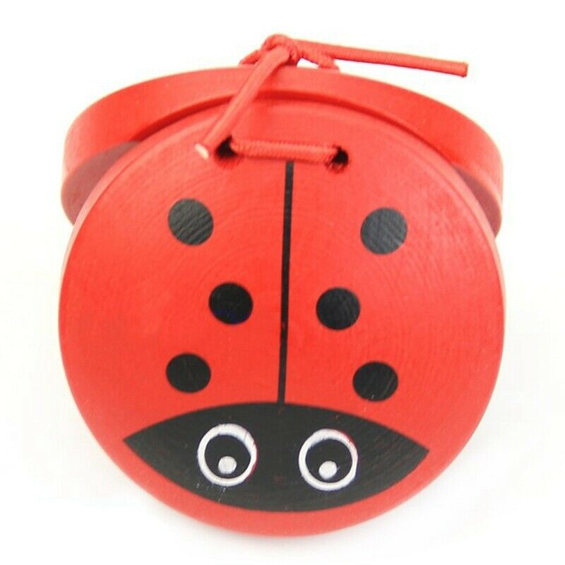 1X(1pc Kid Children Cartoon Wooden Castanet Toy Musical