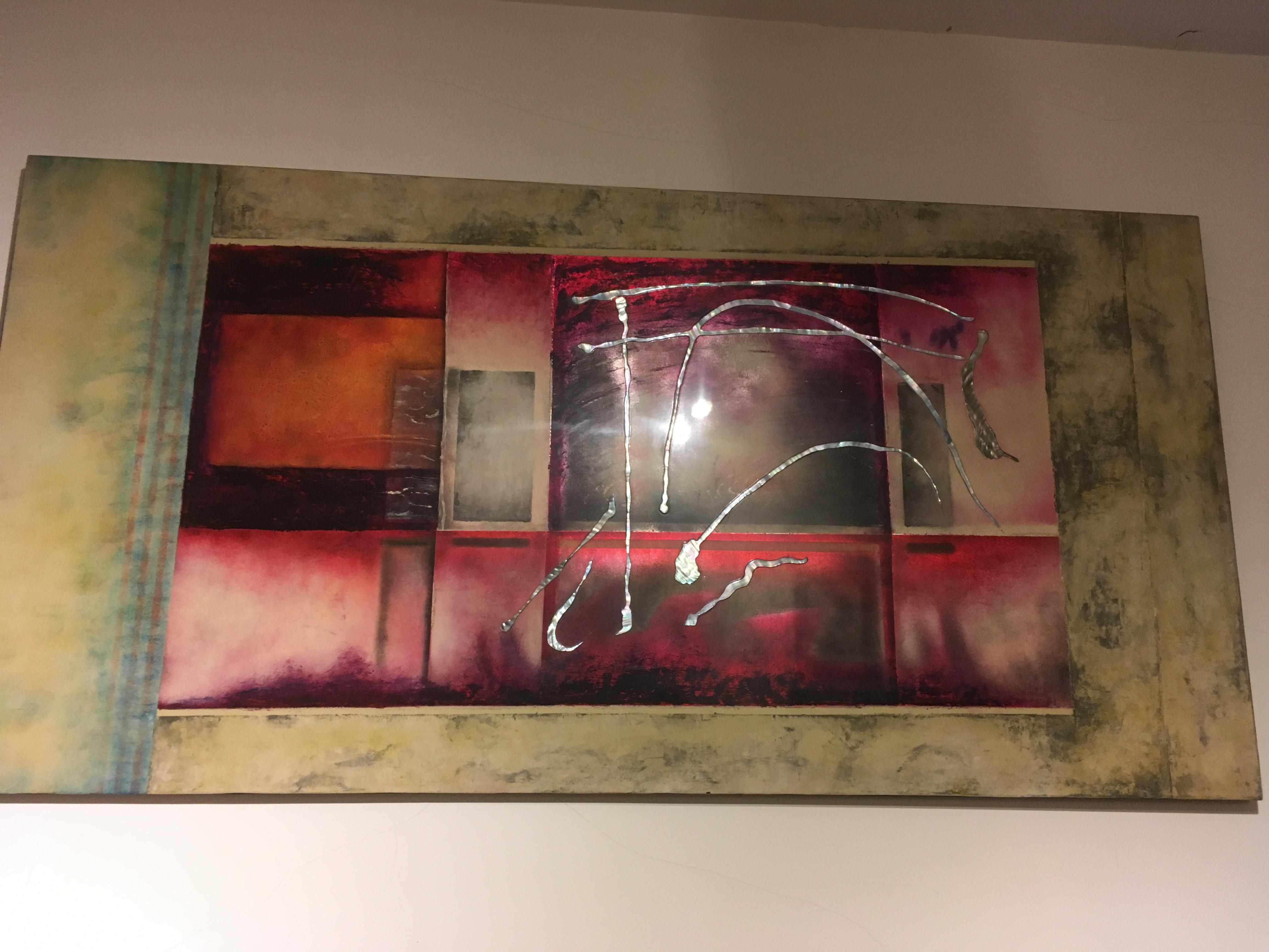 Abstract Art with mother of pearl and precious shell