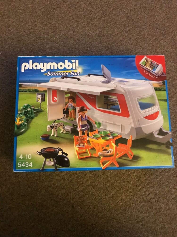 New Playmobil  Summer Fun Family Caravan - Unopened In