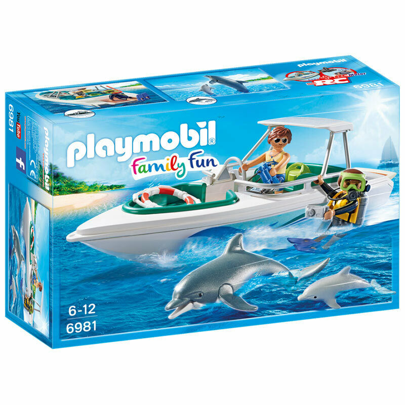 PLAYMOBIL Diving Trip With Speedboat - Family Fun