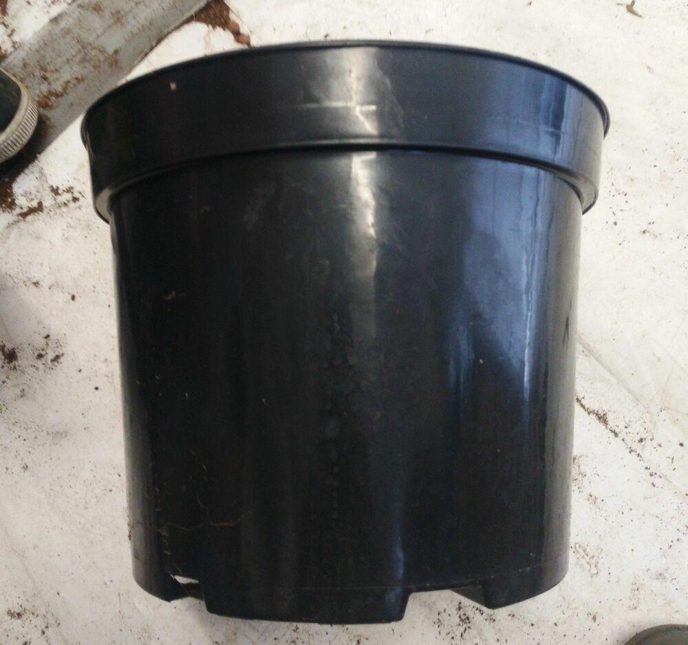 26 x Used 10 Litre Round 29cm Black Plant Pots - Hydroponics