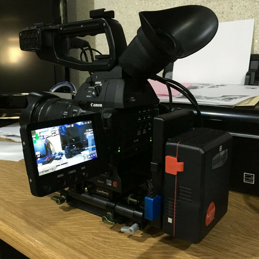 Canon C100 MKii Camcorder with V-lock battery system