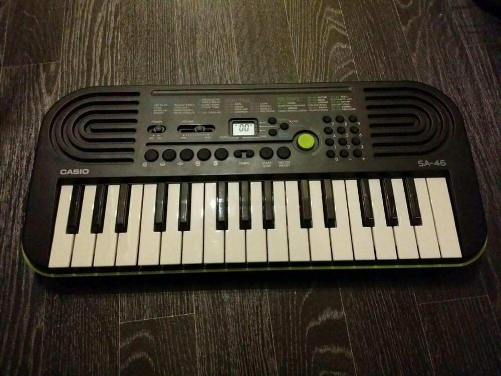 Casio SA- Key Mini Digital Music Keyboard Lime green