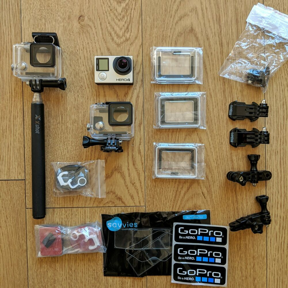 GoPro Hero 4 Black Edition Camcorder with extras