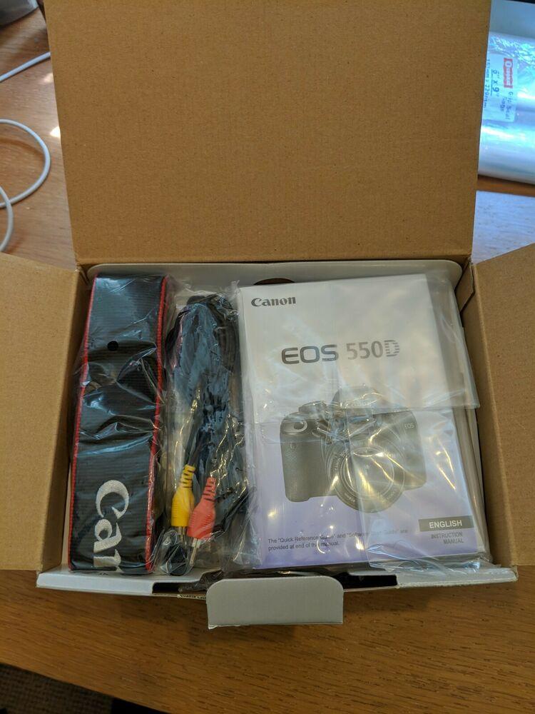Canon EOS 550D DSLR Camera +mm Lens kit + Battery +