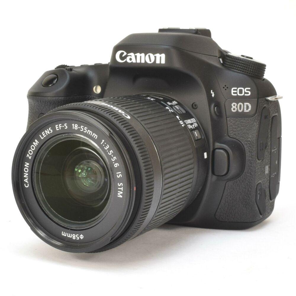 Canon EOS 80D DSLR Digital SLR 24.2MP Camera + EF-S  IS