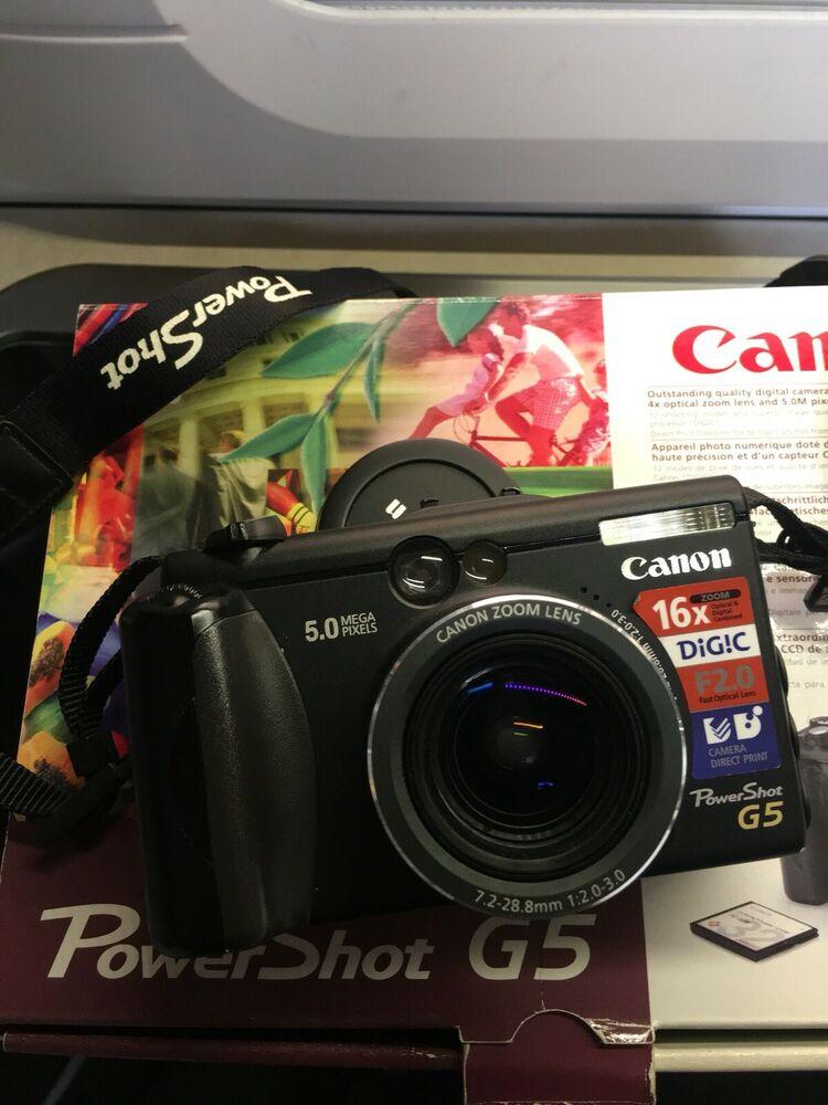 Canon PowerShot G5 5.0MP Digital Camera - Black