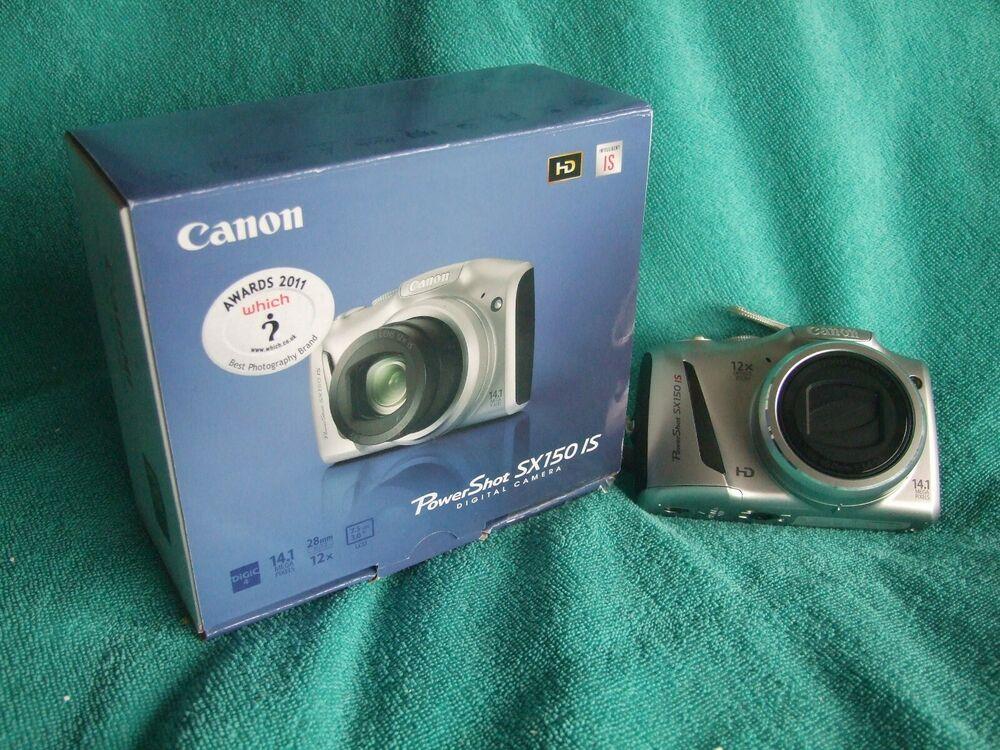Canon PowerShot SX150 IS 14.1MP Digital Camera - Silver
