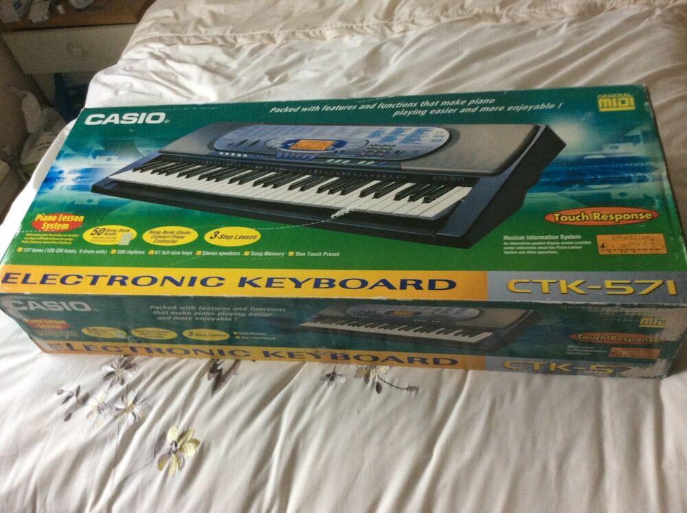 Casio CTK-571 full Size electronic Keyboard - 61 Keys,