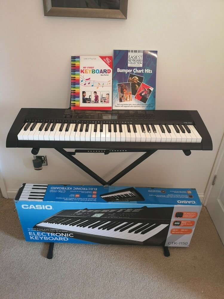 Casio CTK- Full Size Starter Keyboard 61 Keys, stand,