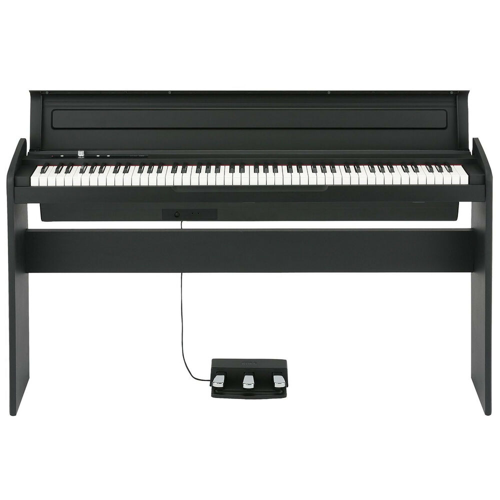Korg LP-180 Digital Piano (black) with stand & pedal unit