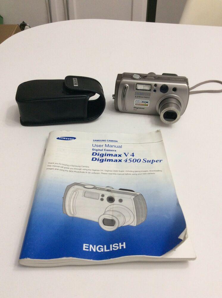 Samsung Digimax V4 4.0MP Digital Camera - Silver
