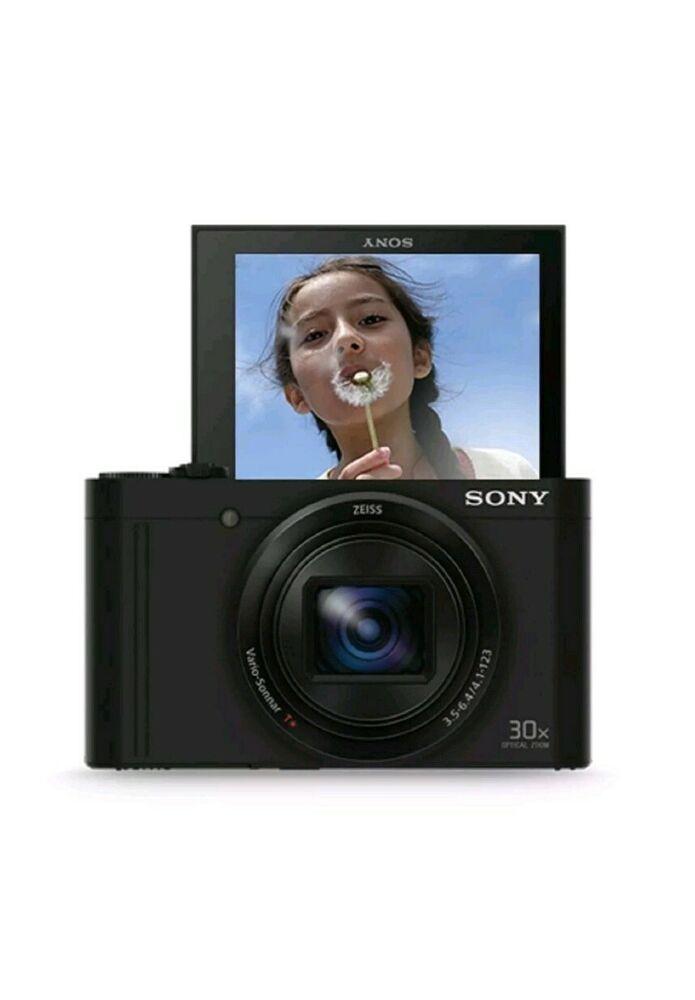 Sony DSCWX500 Black Digital Compact High Zoom Travel Camera