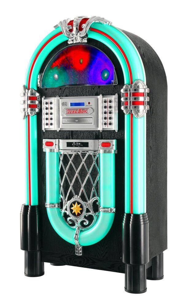 Vintage XXL Jukebox Stereo HiFi System Mp3 CD Record Player