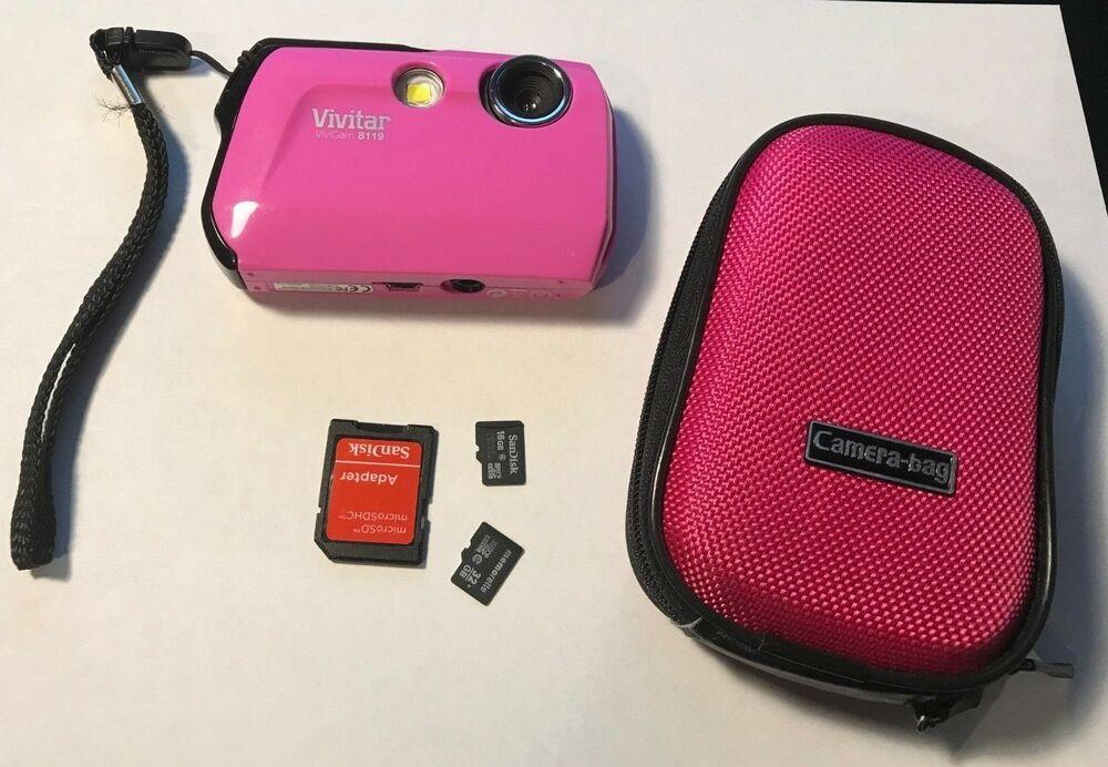 Vivitar ViviCam  Digital Camera Pink With 2 Micro SD