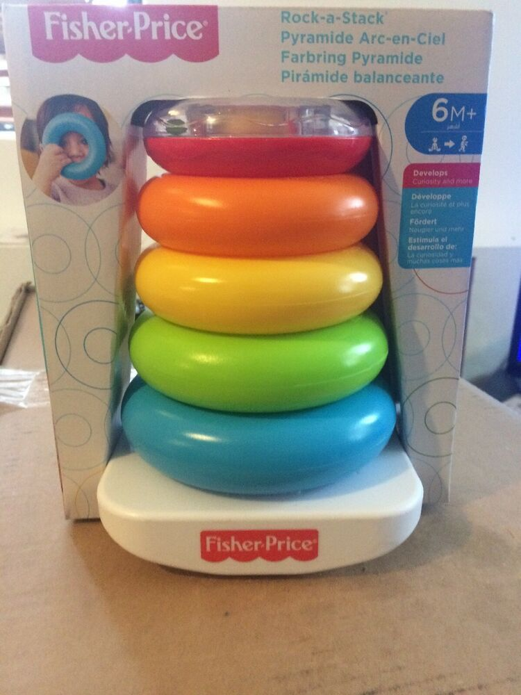 Fisher-Price Rock-A-Stack, Baby Educational Stacking Toy