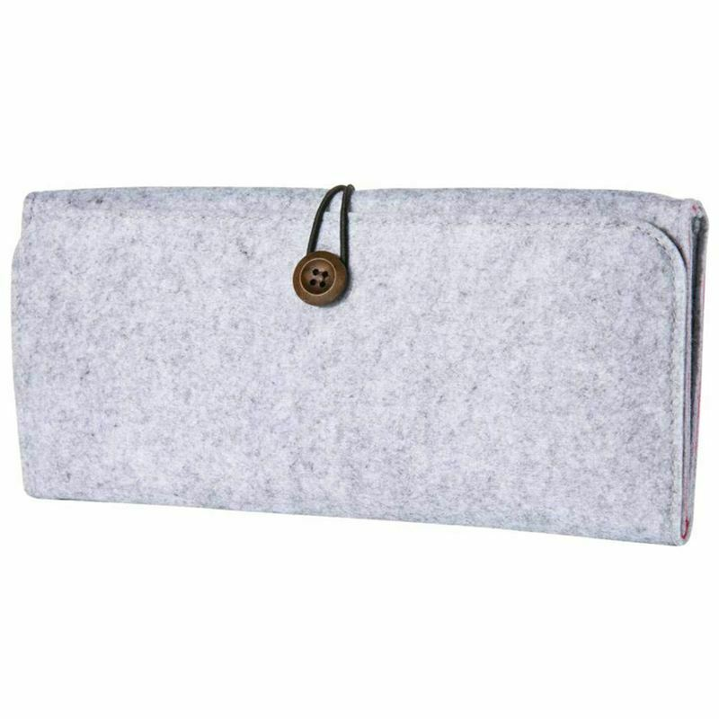 For Nintendo Switch Case - Gray Felt Protective Carry Case