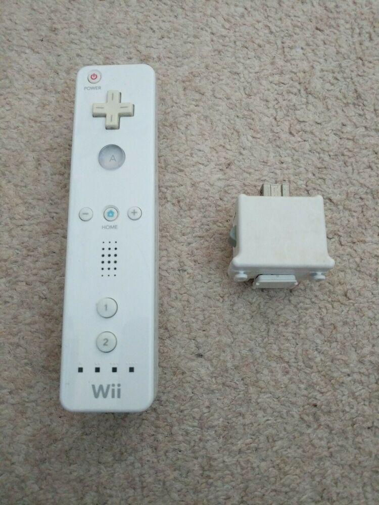 Genuine White Nintendo Wii & Wii U Controller Motion + Plus