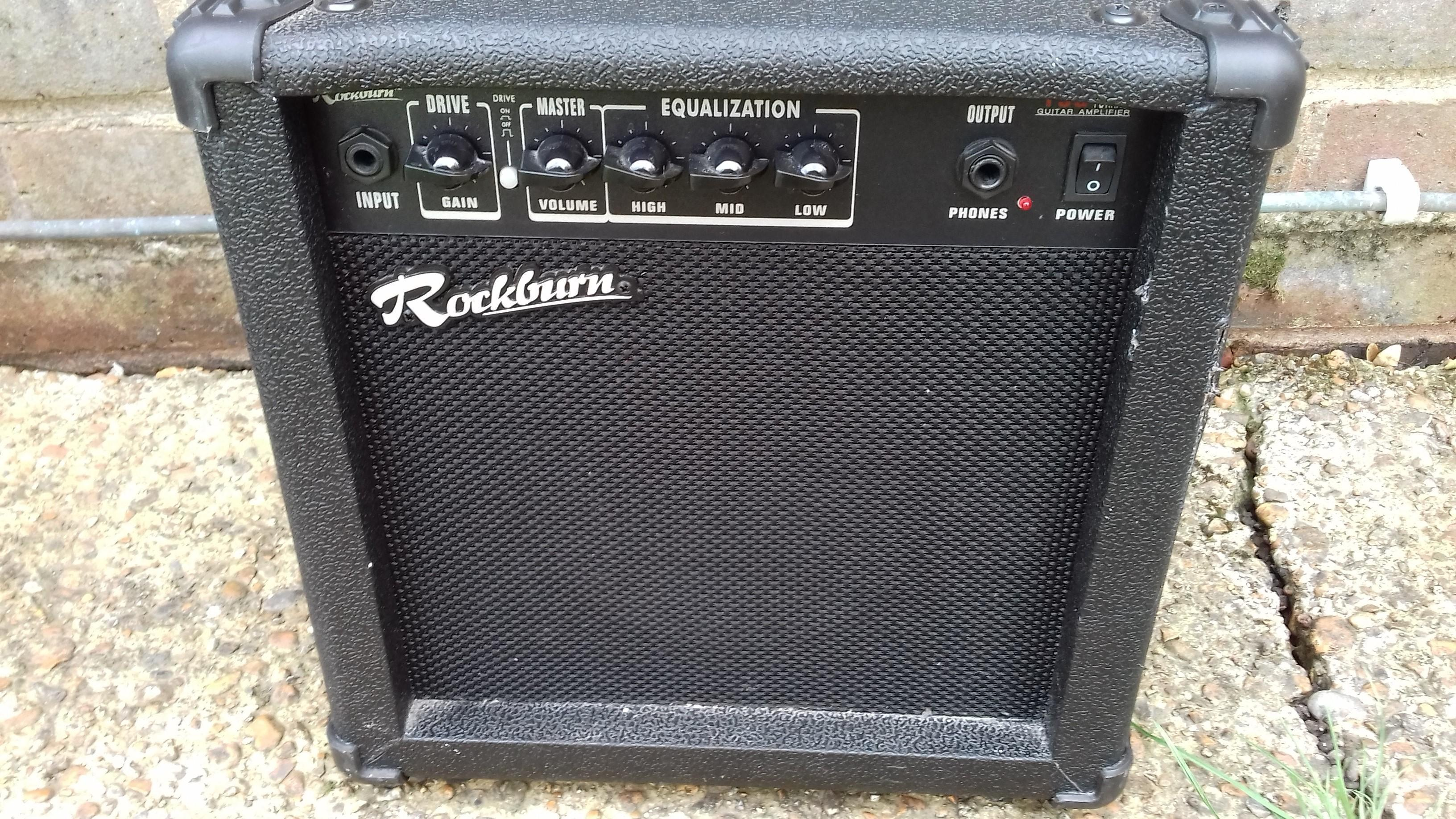 Guitar Practice Amp 15watt Rockburn Fully Working In