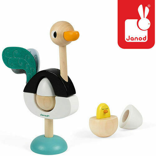 Janod Zigolos Ostrich Stacker Ostrich Inspired Wooden Toy 1