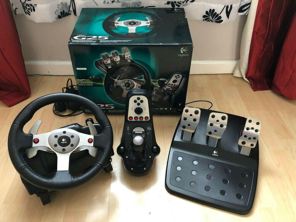 Logitech G25 Racing Wheel for PC PS3 Xbox 360