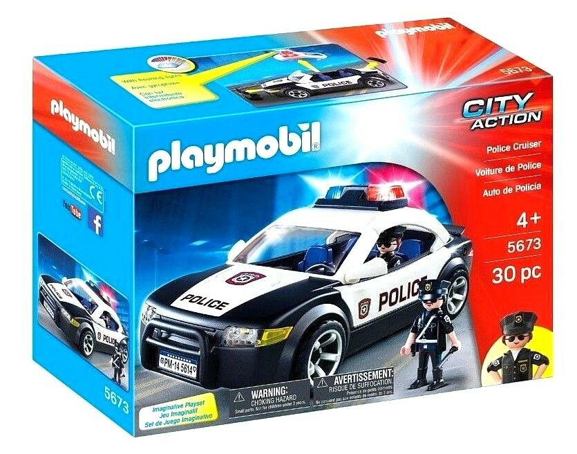 PLAYMOBIL  City Action POLICE CRUISER CAR (New & Sealed)