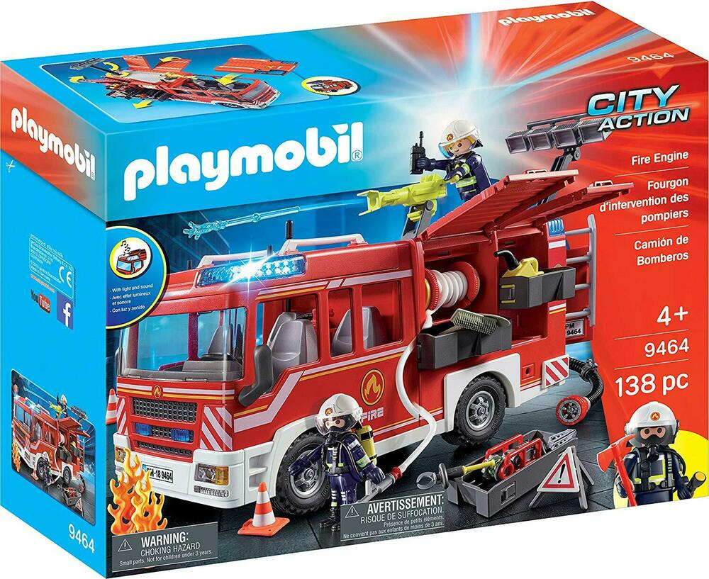 Playmobil  City Action Fire Engine with Working Water