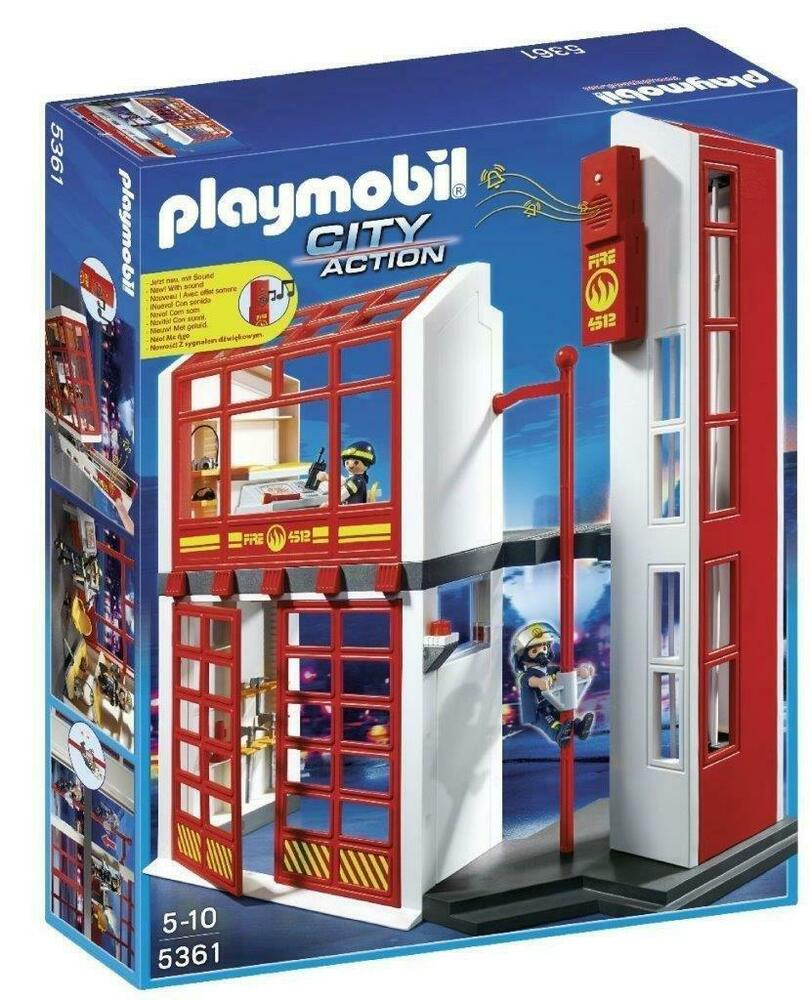 Playmobil  City Action Fire Station with Alarm - Used -
