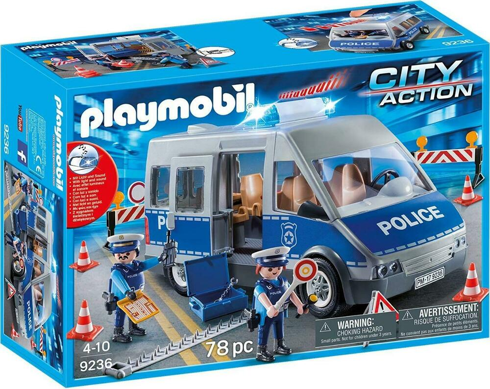 Playmobil  City Action Policemen with Van, Flashing