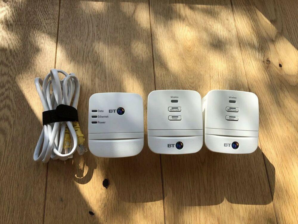 BT Mini Wi-Fi Home Hotspot 600 Powerline Multi Adapter Kit