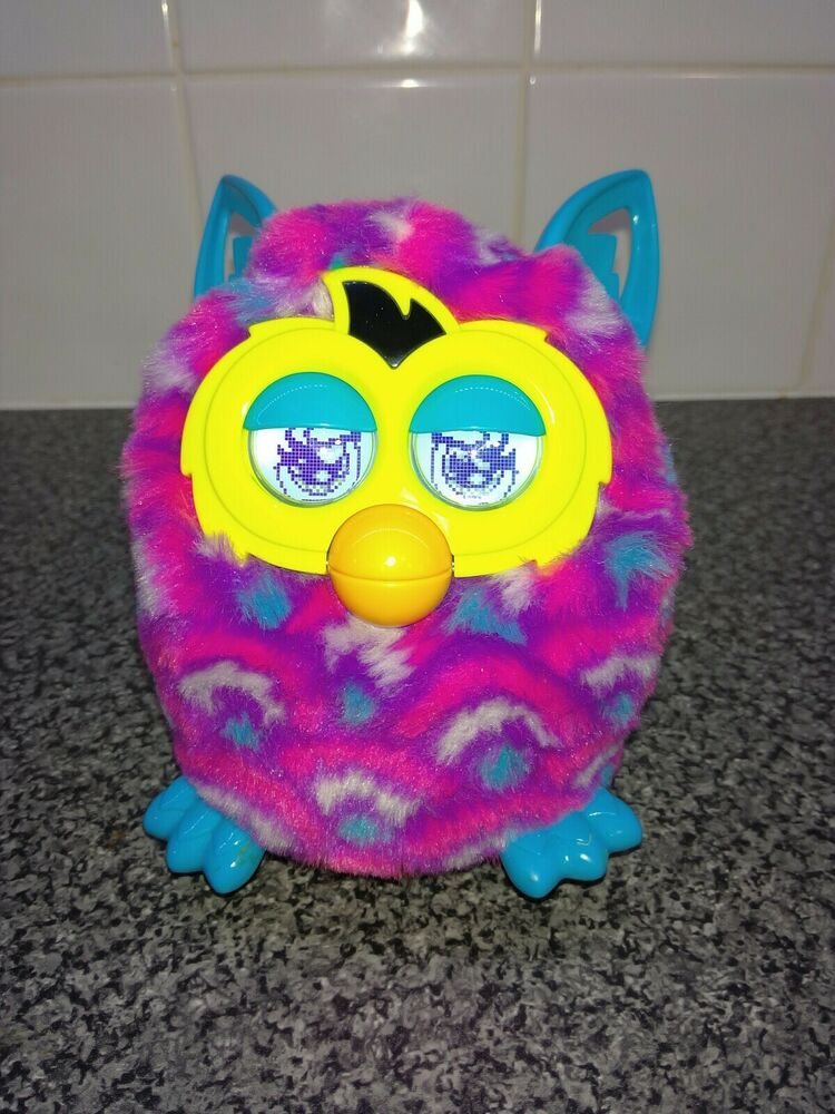 Furby Boom Interactive Electronic Pet. Pink Purple and Blue.