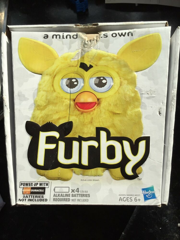 Furby Boom Yellow Electronic Talking Digital Interactive Toy