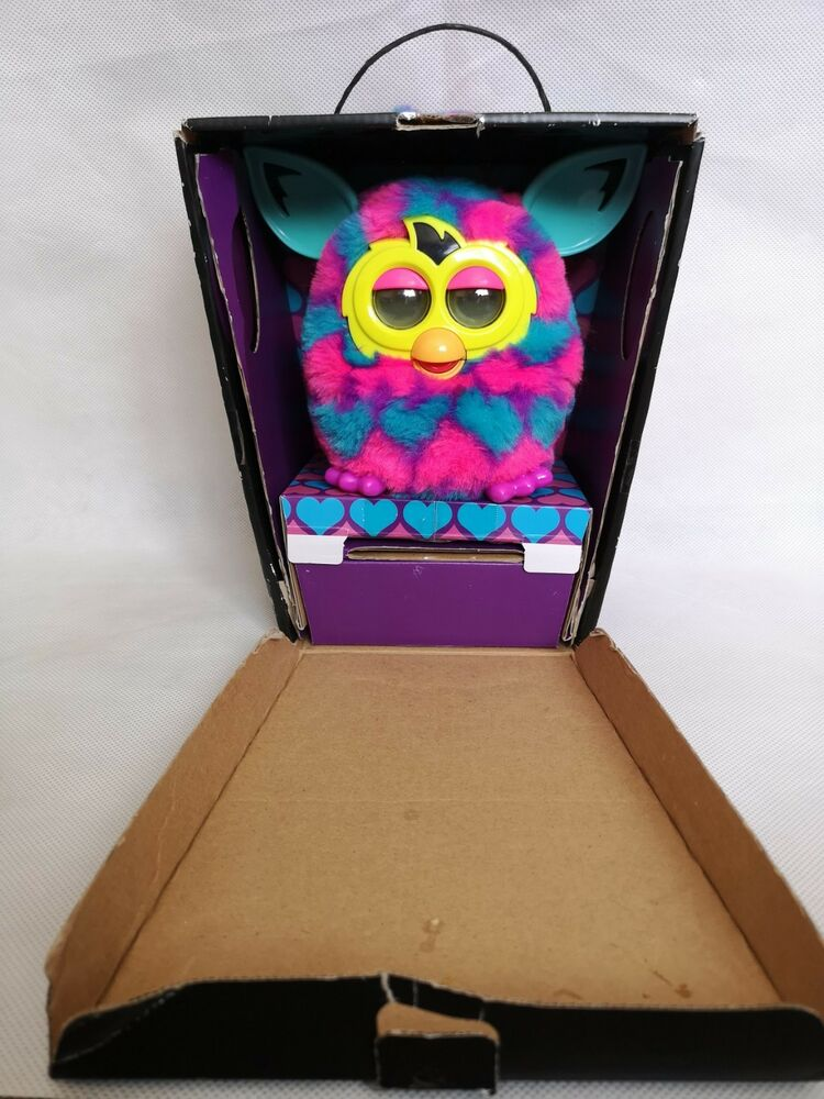 Furby Boom in Pink, Purple and Blue Talking Moving Toy Boxed
