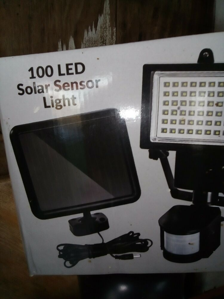 Outdoor Solar Power Motion Sensor Garden Floodlight LED PIR
