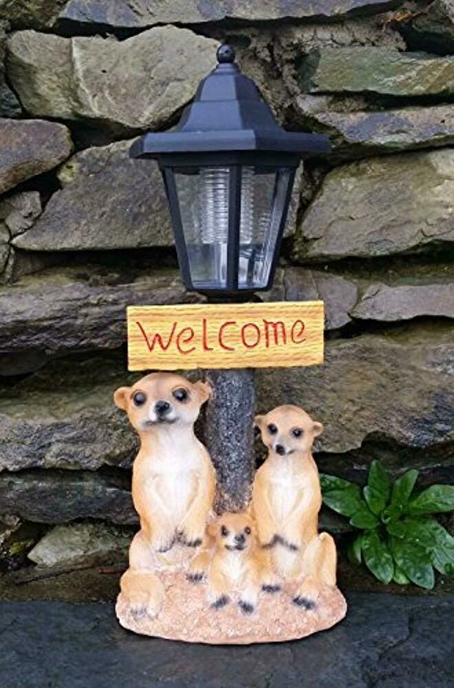 Solar Powered Light Up Lantern Welcome Sign Decorative
