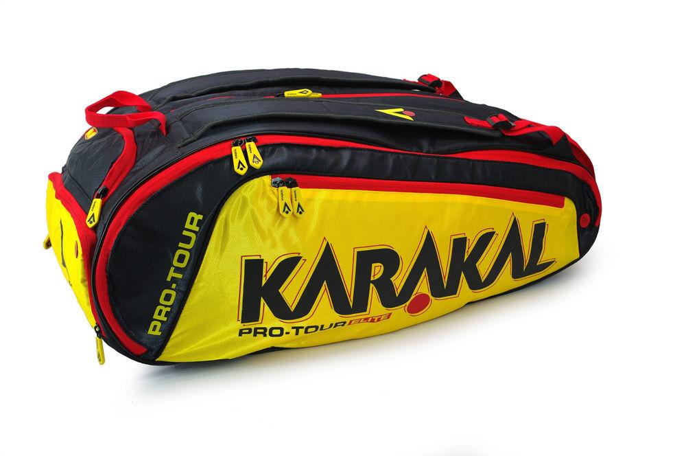 Karakal Pro Tour Elite 12 Racket Bag Sports Equipment