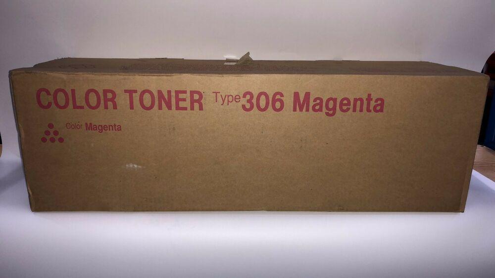 ORIGINAL GENUINE RICOH TYPE 306 MAGENTA TONER CARTRIDGE 15K