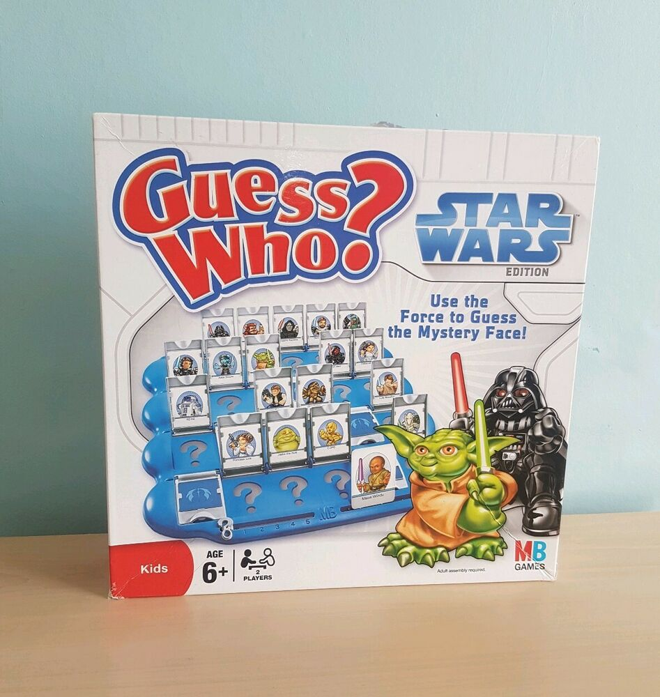Guess Who? Star Wars Edition Kids MB Games Age 6+ 2 Player