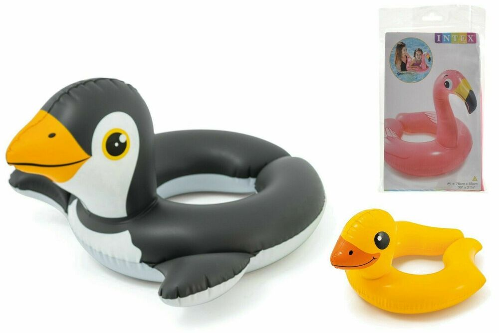 INFLATABLE DUCK SWIMMING RING INTEX CHILDRENS POOL SUMMER