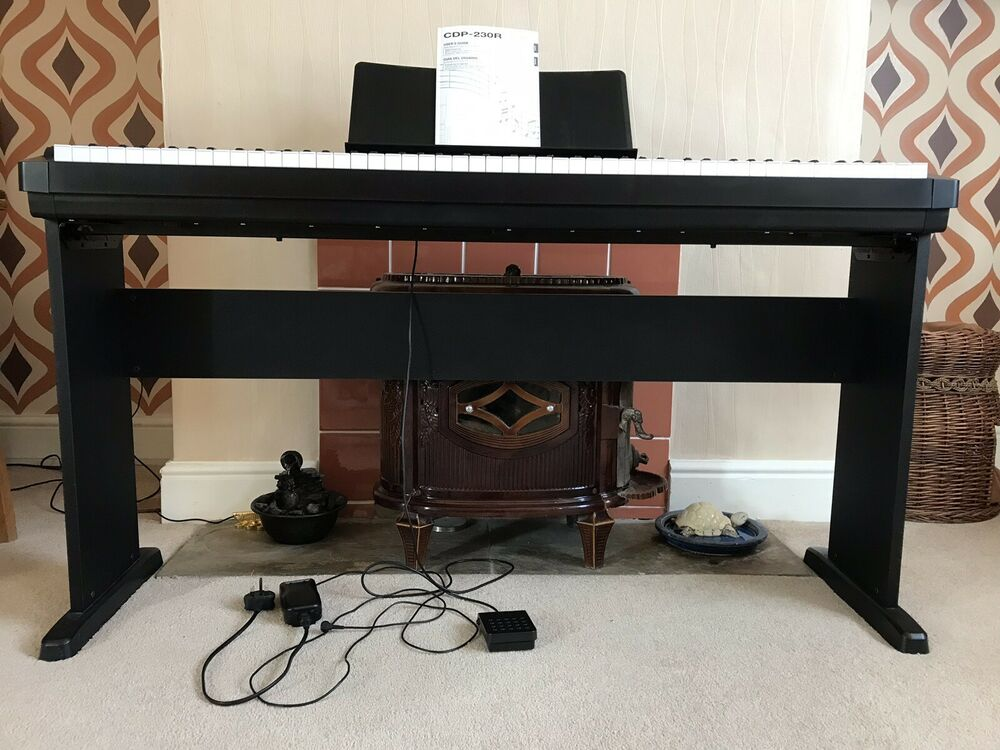 Casio CDP-230R Digital Piano in Black, With Stand And Music