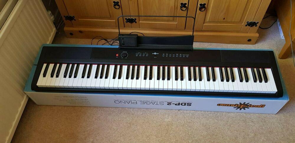 Gear4music SDP-2 Stage Digital Piano in Black
