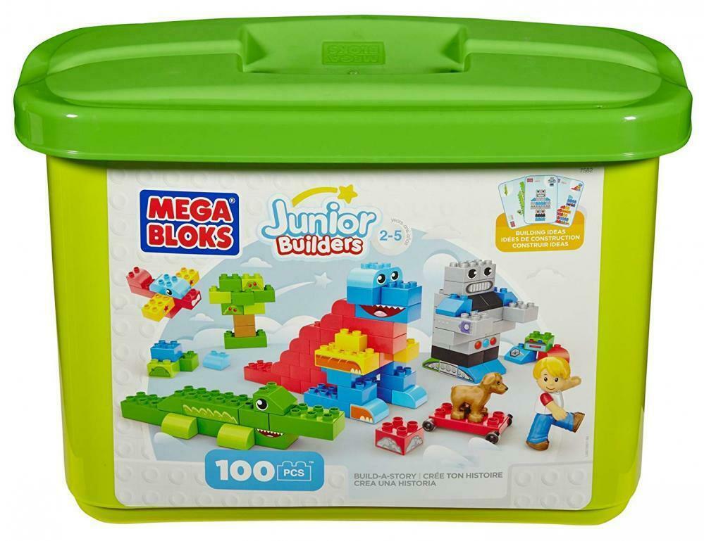 Mega Bloks Junior Builders Building imagination tub 100