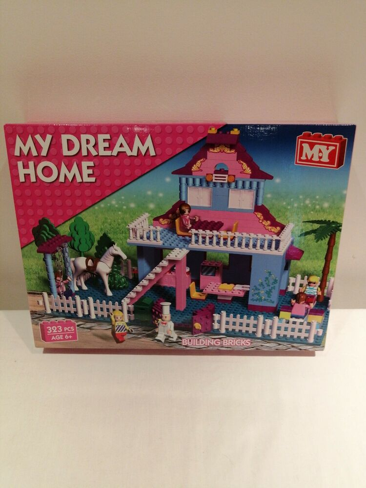 My Dream Home Girls Building Blocks Toy Kids Bricks Princess
