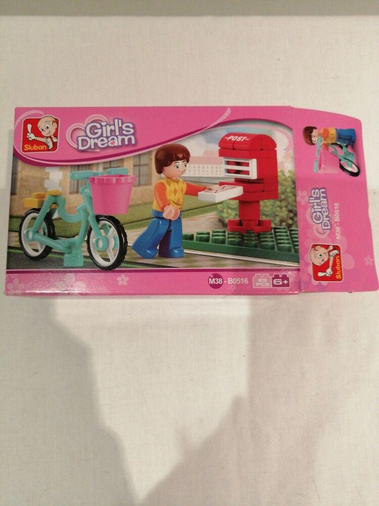 SLUBAN Girls Dream BIKE & POSTBOX Building Blocks M38-B