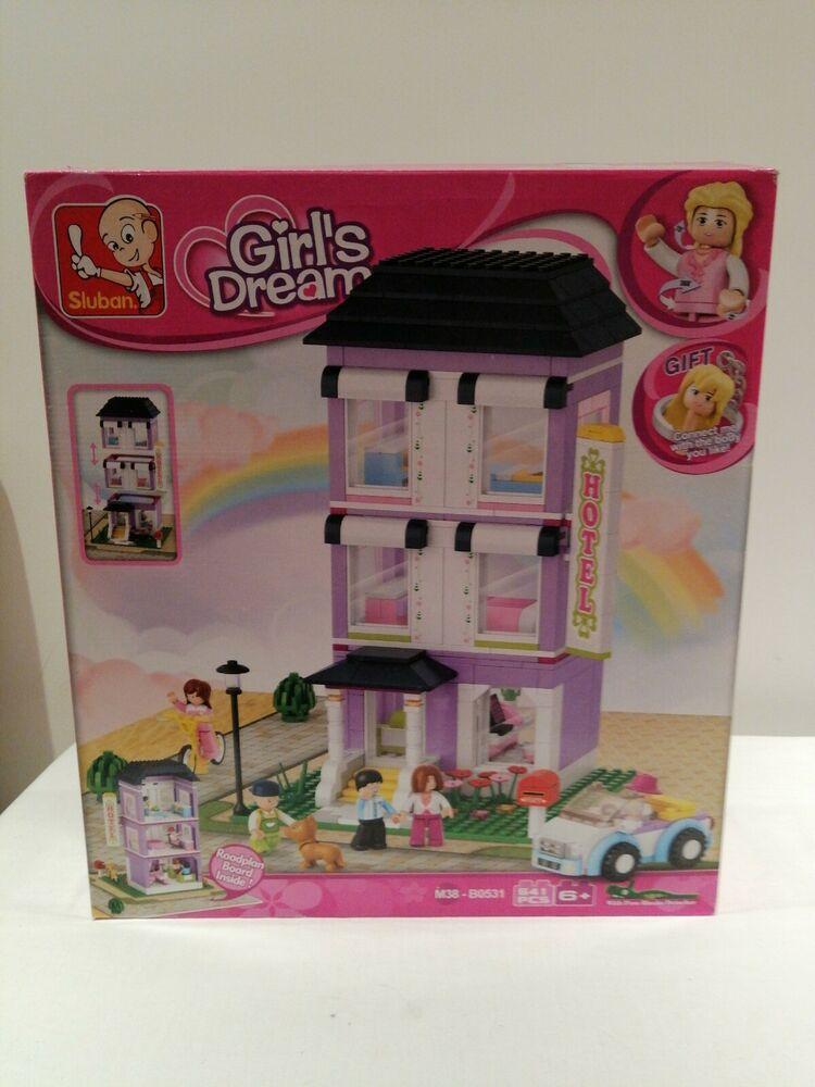 Sluban Building Blocks Girls Dream Series Hotel Indoor