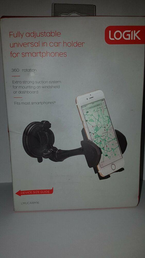 Logik LMUCARM16 Fully Adjustable Universal In Car Holder For